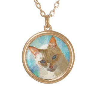 Flame Point Siamese Cat Necklace