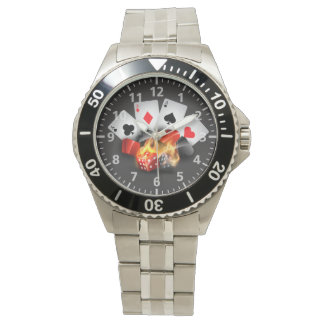 Flame Poker Casino Black Watches