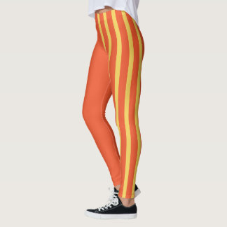 Flame & Primrose Yellow Jester Leggings
