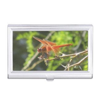 Flame Skimmer Dragonfly Business Card Holder