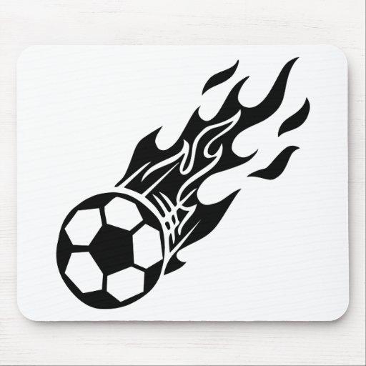 Flame Soccer Ball Mouse Mats