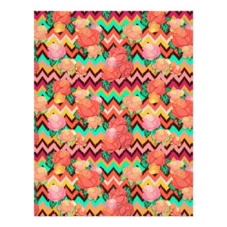 Flame stitch chevron rose scrapbook paper 8.5 x 11
