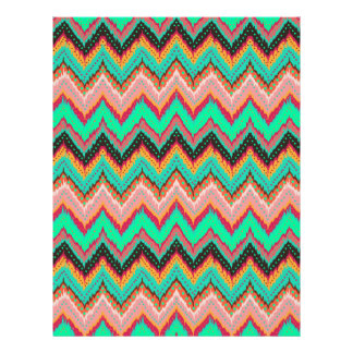 Flame stitch chevron scrapbook paper 8.5 x 11