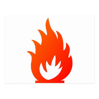 Flame Symbol by Chillee Wilson Postcard