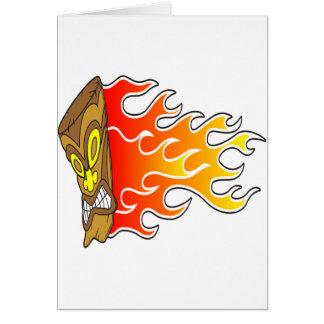 Flame Tiki God Card