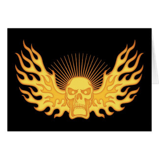 Flame-Wing-Skull Card