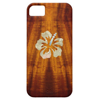 Flamed Koa with Hisbiscus iPhone 5 Case