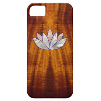 Flamed Koa Wood with Lotus Blossom iPhone 5 Covers