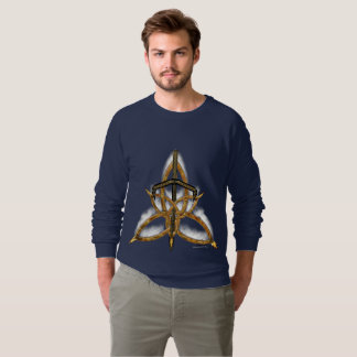 Flamed Triquetra Men's Raglan Sweatshirt