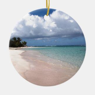 Flamenco Beach Culebra Ceramic Ornament
