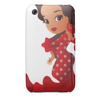 Flamenco cartoon chibi kawaii girl iPhone 3 cover
