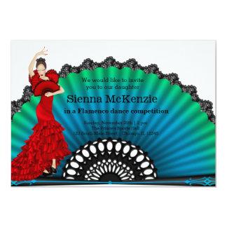 "Flamenco dance 5"" x 7"" invitation card"