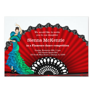 Flamenco dance card