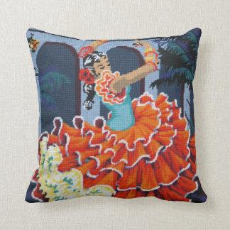 Flamenco Dancer American Mojo Pillow/Cushion Throw Pillow