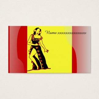 Flamenco dancer business card