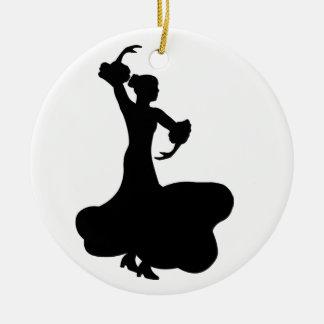 Flamenco Dancer Ceramic Ornament