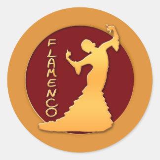 Flamenco Dancer Classic Round Sticker