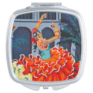 Flamenco Dancer Compact Mirror