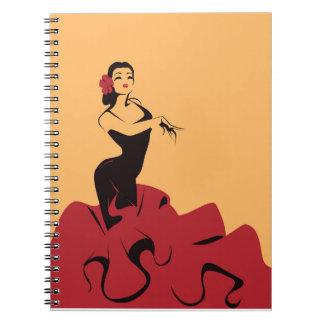 flamenco dancer in a spectacular pose notebook