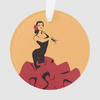 flamenco dancer in a spectacular pose ornament