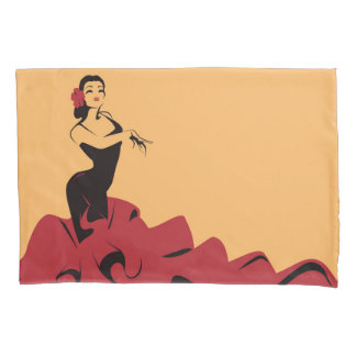 flamenco dancer in a spectacular pose pillowcase
