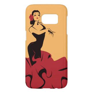 flamenco dancer in a spectacular pose samsung galaxy s7 case