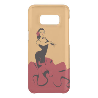 flamenco dancer in a spectacular pose uncommon samsung galaxy s8 case