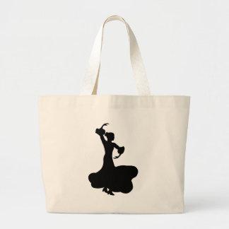 Flamenco Dancer Large Tote Bag