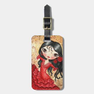"""Flamenco Dancer"" Luggage Tag"