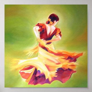 Flamenco Dancer Mini Poster