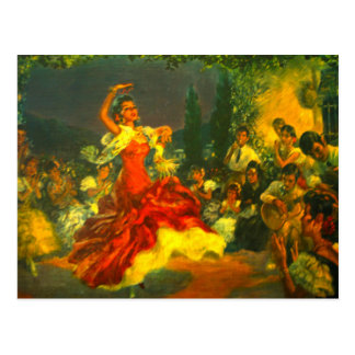 Flamenco Dancer Postcard