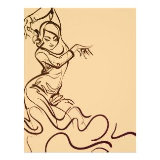 Flamenco dancer sketches flyer