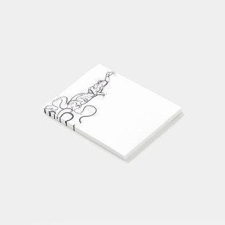Flamenco dancer sketches post-it notes