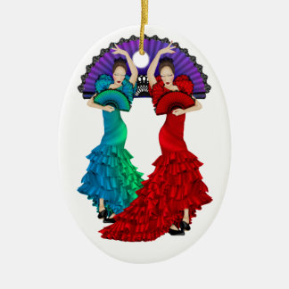 Flamenco Dancer - SRF Ceramic Oval Ornament