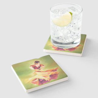 Flamenco Dancer Stone Coaster