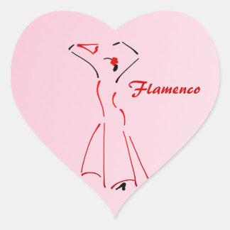 Flamenco Dancer with Customizable Text Heart Sticker