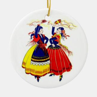 Flamenco Dancers Ceramic Ornament