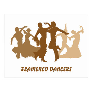 Flamenco Dancers Illustration Postcard