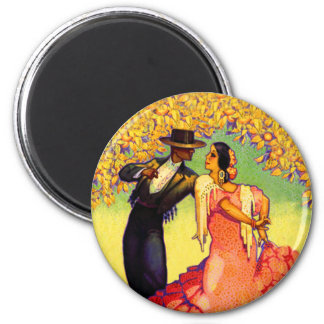 Flamenco Dancers under the Orange Trees Magnet