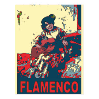 Flamenco Guitar Postcard
