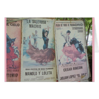 Flamenco Posters, Madrid Card