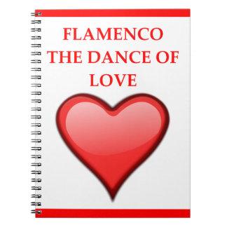 FLAMENCO SPIRAL NOTEBOOK