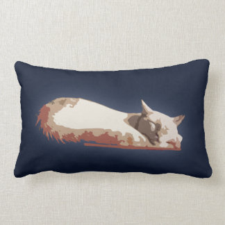Flamepoint Siamese Cat Sleeping Throw Pillow