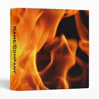 Flames 3 Ring Binders