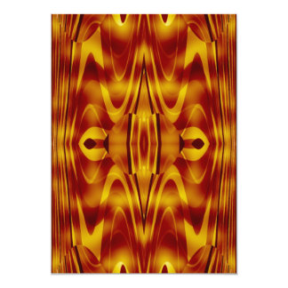 Flames Abstract Personalized Invitation