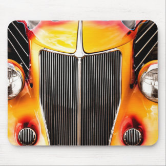 Flames and Chrome Mouse Pad