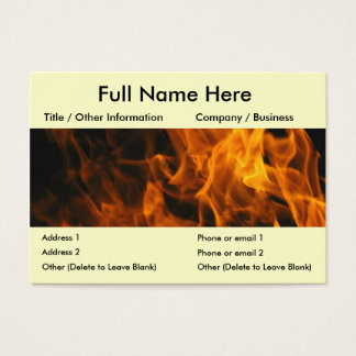 Flames and FIre Business Card