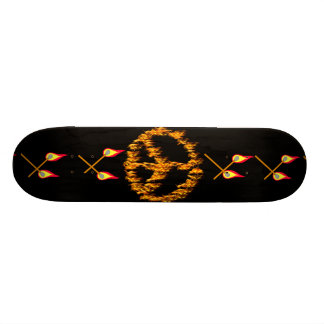 Flames and Hearts Peace Sign Skateboard Decks