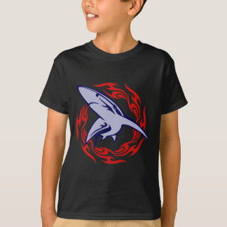 Flames and Shark T-Shirt