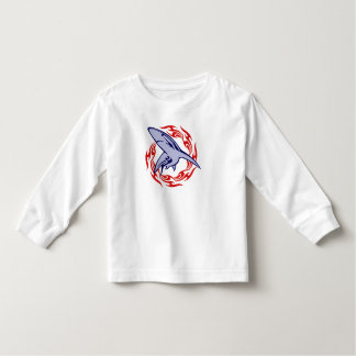 Flames and Shark Toddler T-shirt